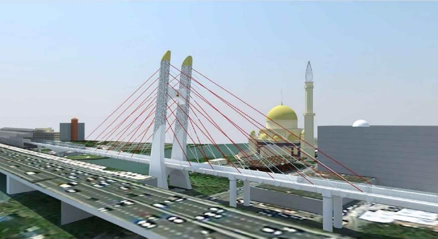 MALAYSIA – KLANG VALLEY LIGHT RAIL TRANSIT 3 (LRT3) ICONIC BRIDGE